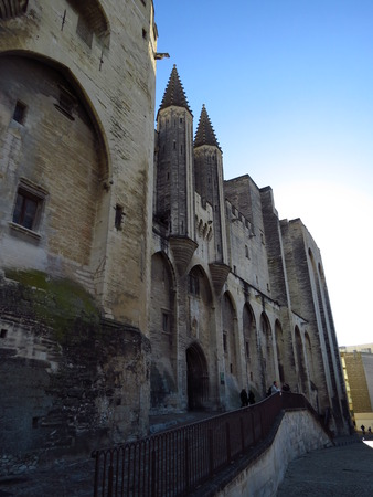 des: Palais des Papes, Avignon, France Stock Photo