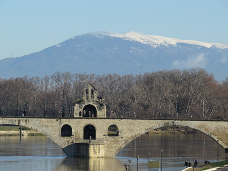 avignon: Avignon, Pont Saint Benezet - Bridge, France Editorial