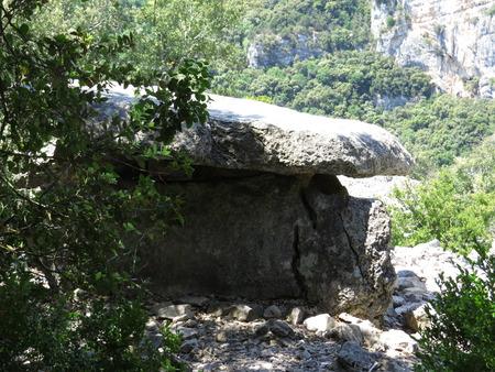 ze: Dolmen du Chanet, Prehistoric Site in the gorges of the Ardeche, France - Dolmen Chanet, prehistoric Site in the gorges of the Ardeche, France