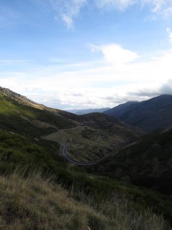 Panorama montagne ardéchoise Banque d'images