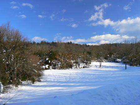 La neige d'hiver dans les montagnes des Alpes, France Banque d'images - 49265521