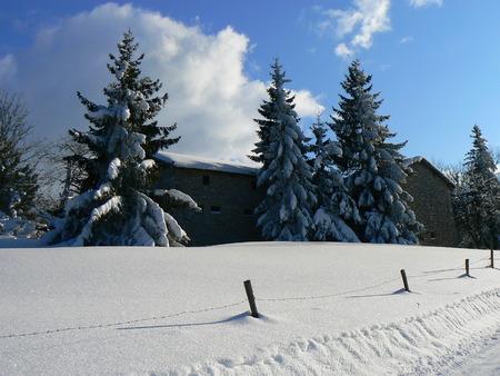 Scènes d'hiver dans les Alpes - scènes d'hiver dans les Alpes, France Banque d'images - 49265595