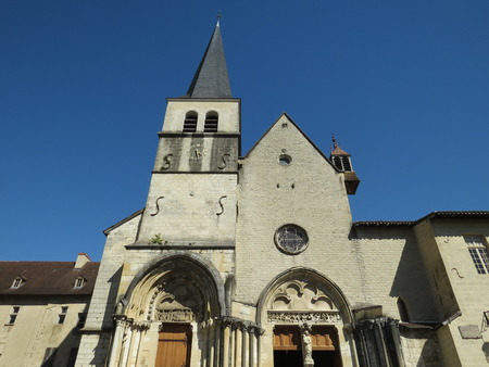 Abbaye Notre-Dame Ambronay Stock Photo