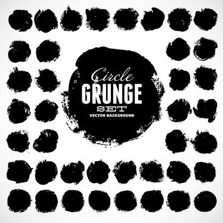 Set of round grunge vector shapes. Vector banners. Abstract shapes. Big pack. Grunge art. Retro background. Vintage background. Design elements Vector