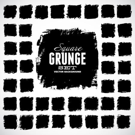 Set of grunge vector shapes. Vector banners. Abstract shapes. Big pack. Grunge art. Retro background. Vintage background. Design elements Illustration