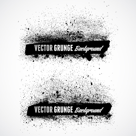 halftone: Grunge banner backgrounds in black color Illustration
