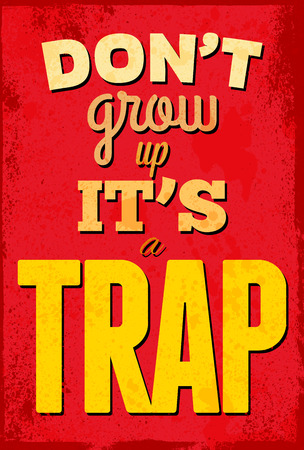 funny: Vintage typography vector illustration with grunge effects. Can be used as a poster or postcard. Illustration