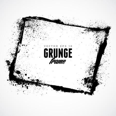 ink art: Grunge frame for multiple applications.