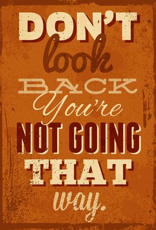 Vintage typografie vector illustratie met grunge effecten. Kan gebruikt worden als poster of briefkaart. Stock Illustratie