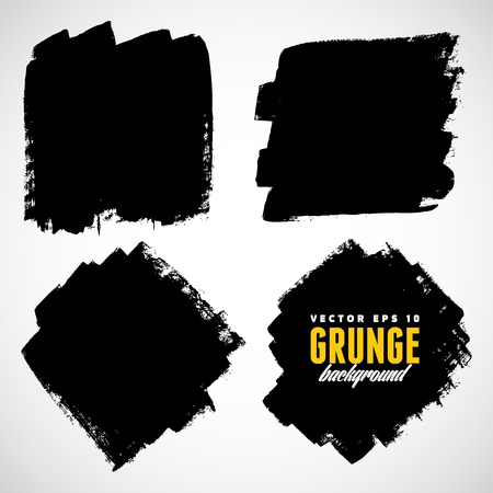 Abstract grunge ink draw shapes vector Vector