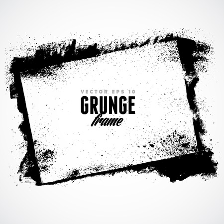 black grunge background: Grunge frame for multiple applications.