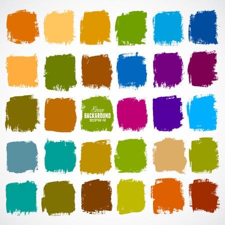 cuadrados: Antecedentes cuadrados del vector abstracto pintado a mano-