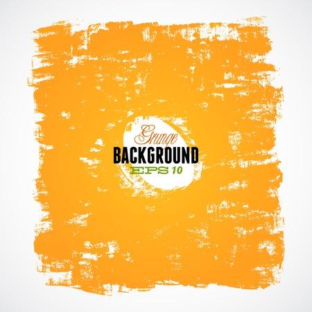 Grunge ink orange hand-drawn background Vettoriali