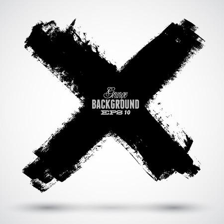 grunge cross: Grunge cross on the white background