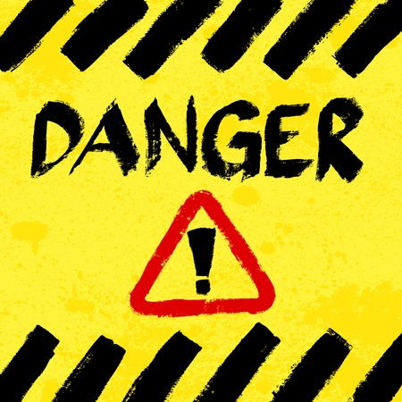 worn sign: Se�al de advertencia, desgastado y sucio Vectores