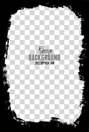 grunge layer: Abstract grunge border design element - vector Illustration