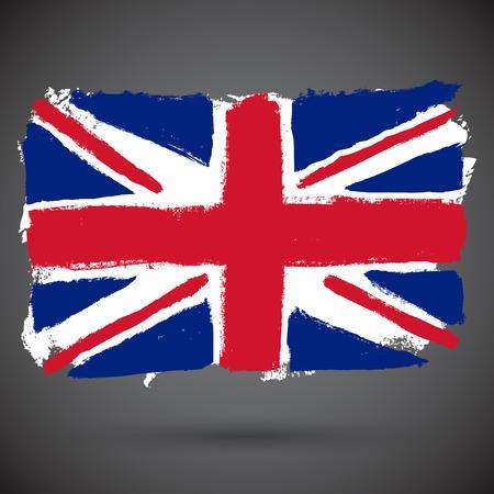 British flag grunge vector Illustration