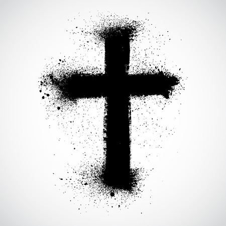 religious cross: Grunge cross
