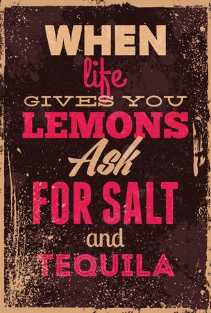 humour: Vintage typography vector illustration with grunge effects. Can be used as a poster or postcard. Illustration