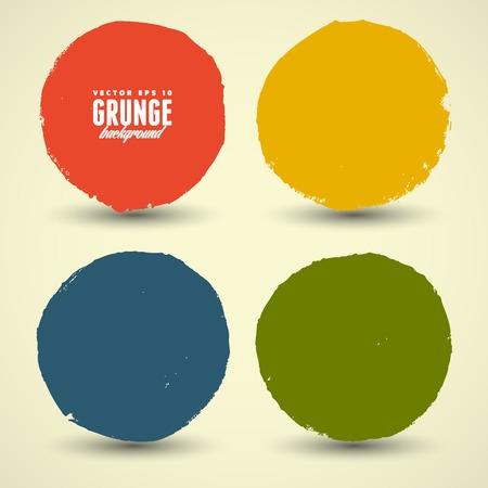 Beautiful color grunge design elements