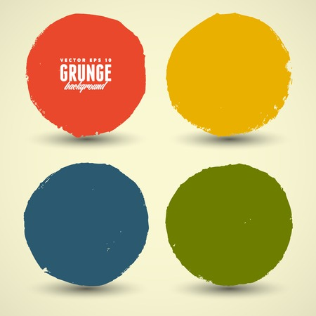 Beautiful color grunge design elements