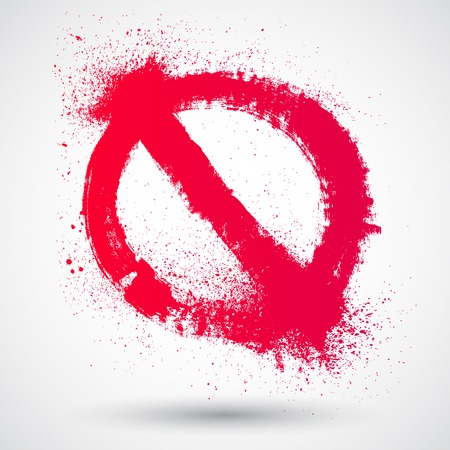 not allowed: Not Allowed Sign. Grunge hand drawn symbol