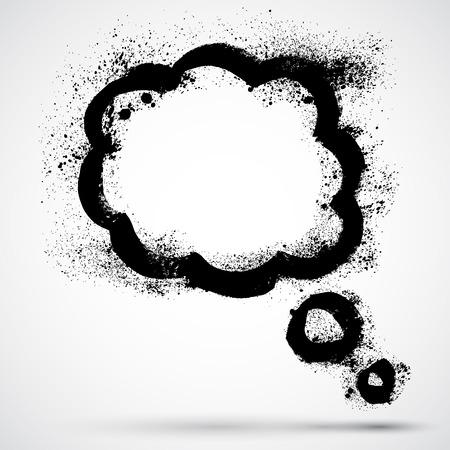 for text: Grunge nuvoletta vuota per il testo