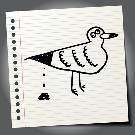 mew: Cartoon seagull