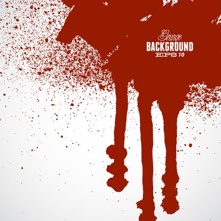 Blood red banner with room to add your own text Illustration