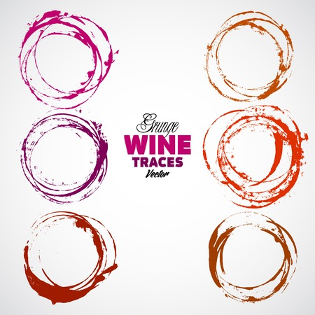 wine bottle: Red wine stain over gray background. Vector Illustration, eps 10, contains transparencies