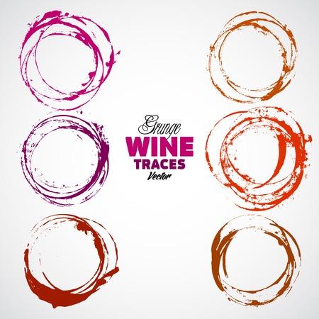 bouteille de vin: Rouge tache de vin sur fond gris. Vector Illustration, EPS 10, contient des transparents