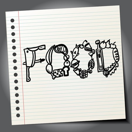 Doodle food sign Vector