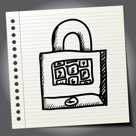 old padlock: Padlock cartoon