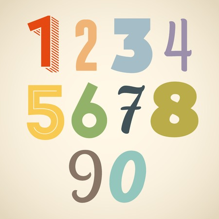 Vector abstract number set Vector