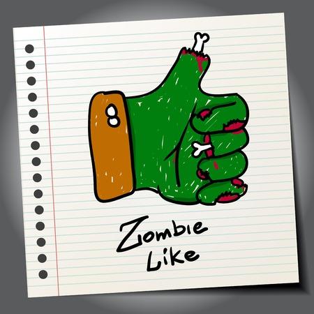 lowbrow: Doodle zombie come simbolo