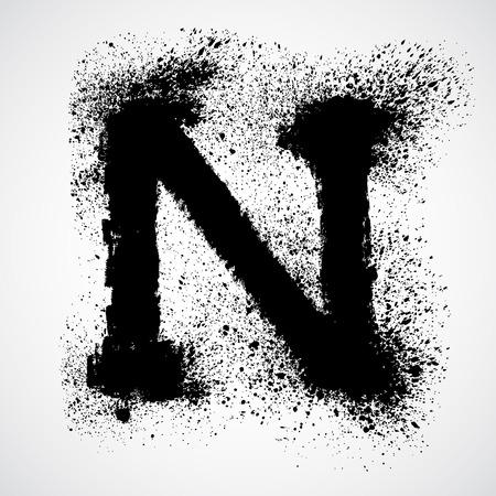lettre alphabet: lettre de Grunge - alphabet symbol design
