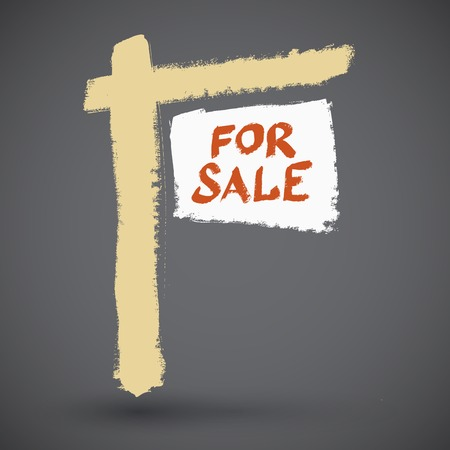 occupant: For sale grunge, vector illustration
