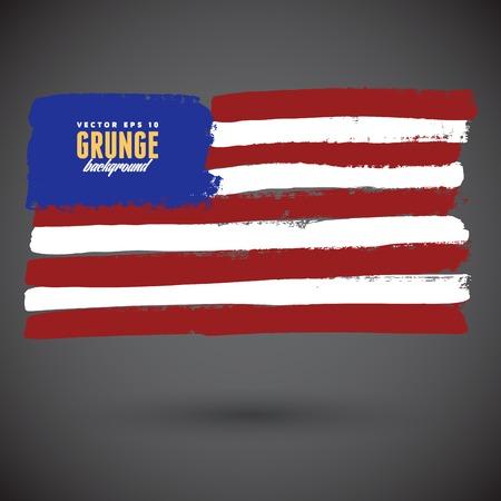 flagged: Grungy USA flag
