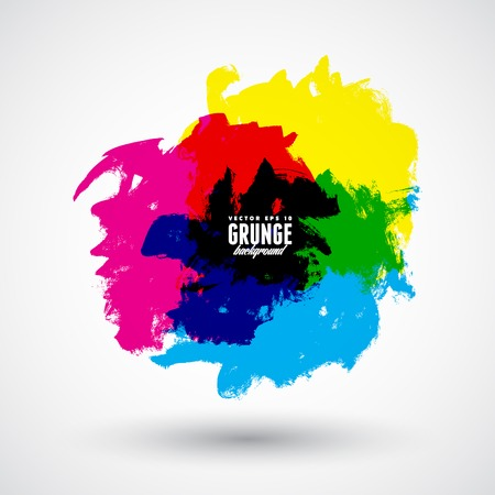 tiff: CMYK grunge shapes. Illustration