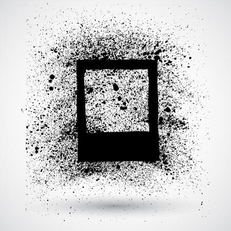 grune: Blank photo frame in grune style Illustration