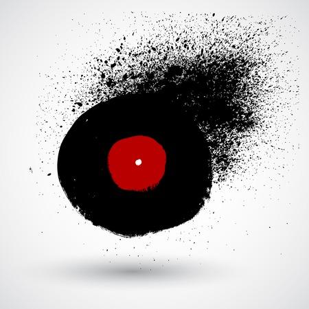 gestural: Vinyl painting dripping art in vector format