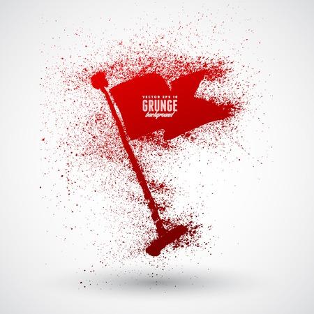 flagged: Grunge flag symbol Illustration