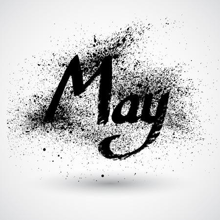 month: Grunge month sign Illustration