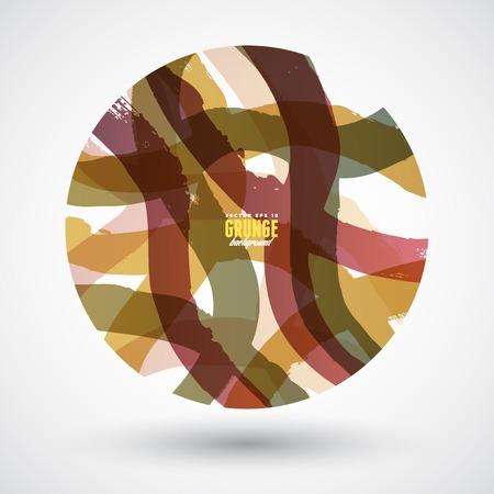 weave ball: Hand drawn circle, vector design element