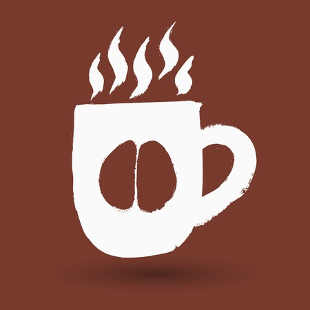 chai: Cup of coffee in grunge style Illustration