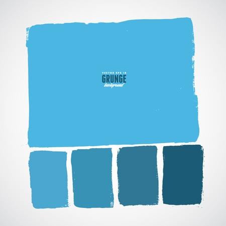 cuadrado: Cuadrados dibujados a mano de la tinta de Grunge