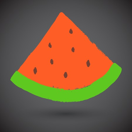 watermelon slice: Grunge watermelon slice