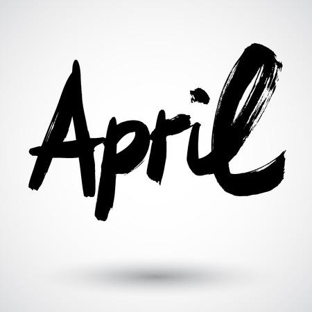 Grunge month sign Illustration