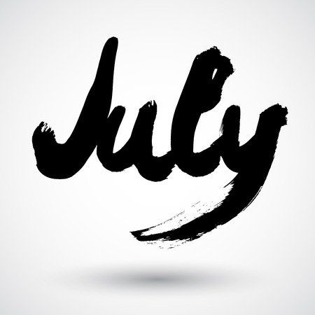 scheduler: Grunge month sign Illustration