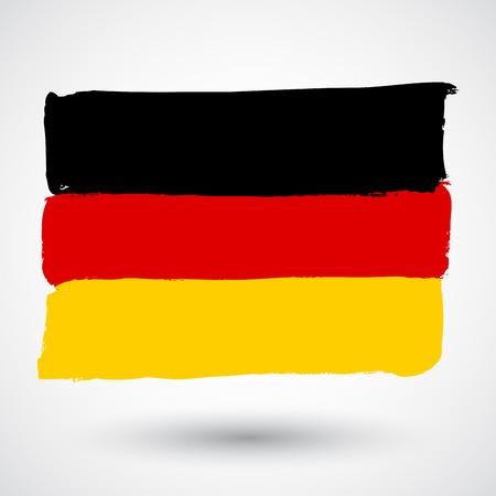 old flag: Germany flag in grunge